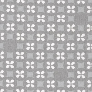 Robert Kaufman Little Prints Double Gauze Koniczynki Grey