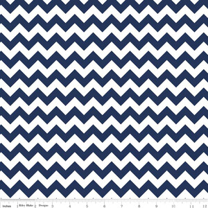 Riley Blake Jersey Small Chevron Navy