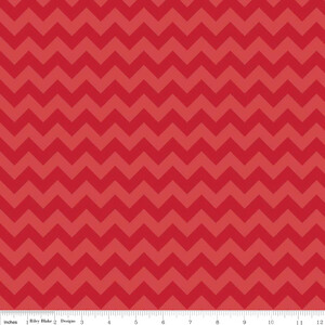 Riley Blake Jersey Small Chevron Red
