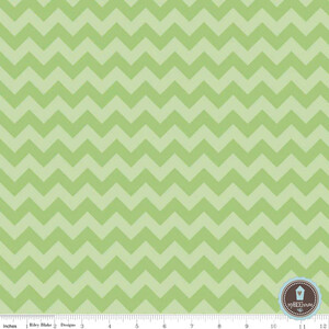 Riley Blake Small Chevron Zygzak Green (outlet)