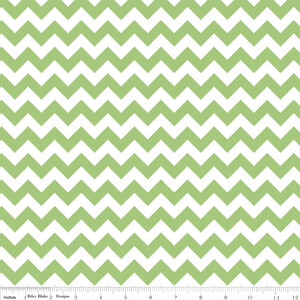 Riley Blake Small Chevron Zielony (outlet)